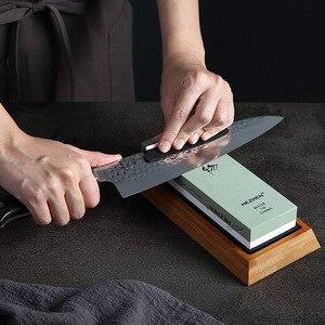 Image 1 - HEZHEN aiguiseur de couteaux de cuisine, meule, diamant Surface daffûtage, couteau en pierre à aiguiser, outil daffûtage de cuisine avec Guide dangle