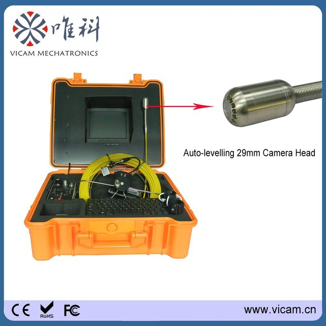 Portable Sewer Drain CCTV Pipe Inspection Camera video 40 Meters ...