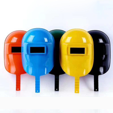 New 1lot/5pcs Hand-held affixable drop-resistant electrical Big view welder protective mask Plastic welding cap