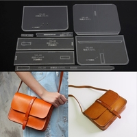 8 Pcs DIY Leathercraft Messenger Bag Acrylic Shoulder Bag Stencil Templates