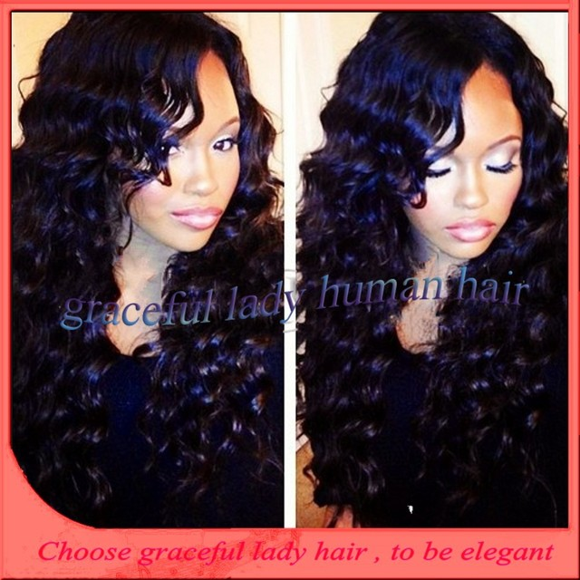 New Arrived Wendy Williams Wigs 100% real Deep Wave 150 density front lace  wig Glueless 0941858e91
