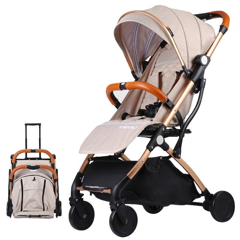 Europa NO impuesto cochecito de bebé carro coche plano ligero portátil de viaje cochecito niños cochecito del cochecillo de bebé 4 regalos