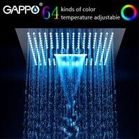 GAPPO душевая головка из нержавеющей стали 400 мм * 400 мм водяная светодиодная душевая головка для ванной комнаты смеситель для душа