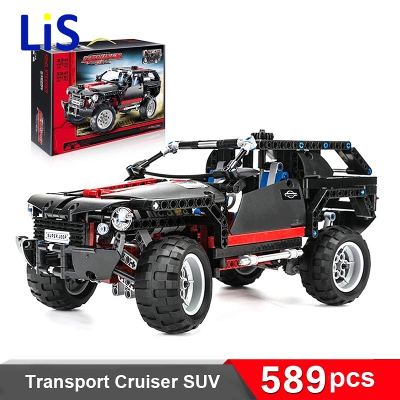 Lis Land Cruiser LC200 decool 3341 589pcs Original Blocks brain game SUV Assembling toys self-locking bricks Car model Hummer black pearl building blocks kaizi ky87010 pirates of the caribbean ship self locking bricks assembling toys 1184pcs set gift