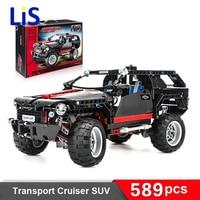 Land Cruiser LC200 Decool 3341 Original Blocks Brain Game SUV Assembling Toys Self Locking Bricks Car
