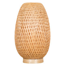 Modern Chinese bamboo desk lamp hotel club creative bedroom bedside lamp modern simple bar decoration table lamp(China)