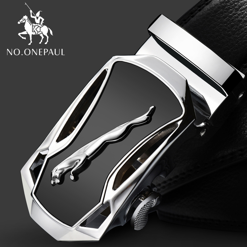 NO.ONEPAUL Fashion new style Belts For Men Genuine Leather Cowskin Belt Automatic Buckle High Quality Business Male Men's Belts