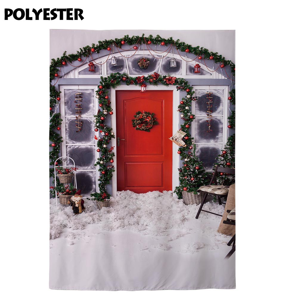 Allenjoy Christmas Porch Background For Photo Studio Holiday Decor