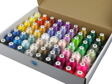 1000M Polyester Embroidery Machine Thread 63 Brother Colors/kit for Brother Babylock Janome Singer Pfaff Bernina Machines
