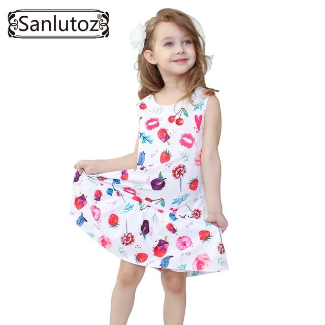 f43008d59 Girl Dress Children Clothing Summer Kids Clothes Beach Style Girls ...