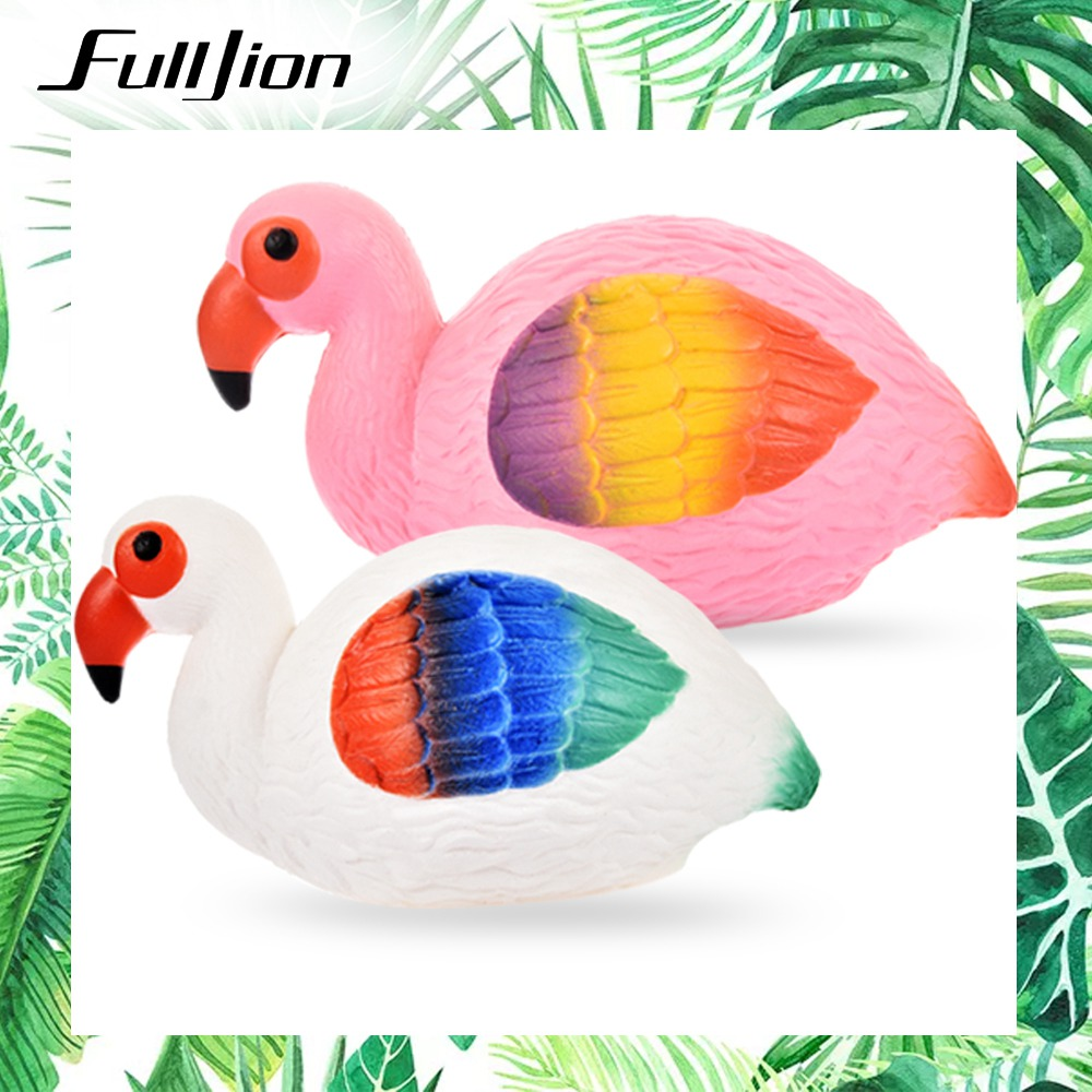 Fulljion Squishy Slow Rising Flamingo Squishe Antistress Gadget Stress Relief Toys Novelty Gag Anti Stress Fun Entertainment Toy fulljion squishy alpaca slow rising antistress squishe toys jumbo fun gadget squisy stress relief toy girls gags practical jokes