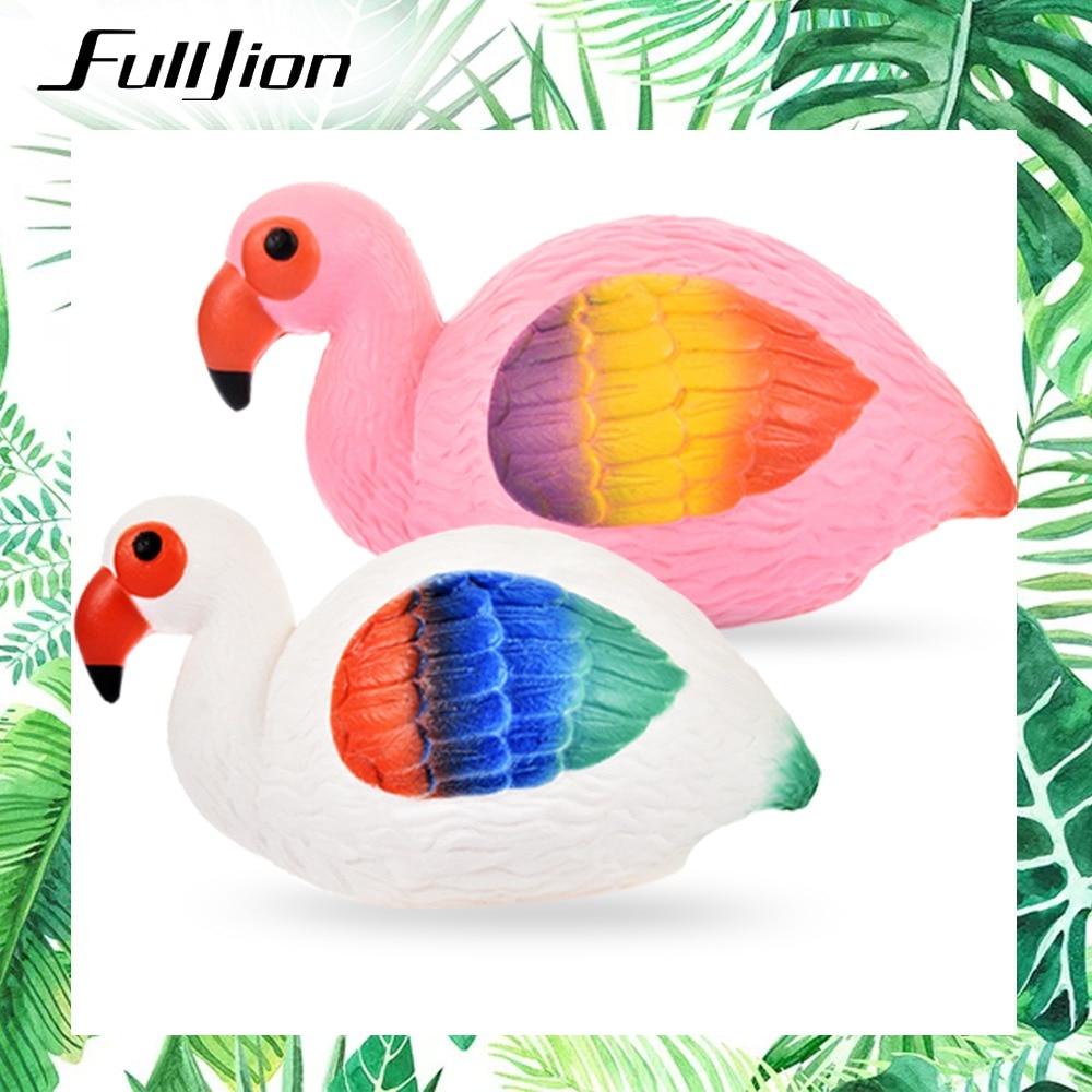 Fulljion Squishy Slow Rising Flamingo Squishe Antistress Gadget Stress Relief Toys Novelty Gag Anti Stress Fun Entertainment Toy