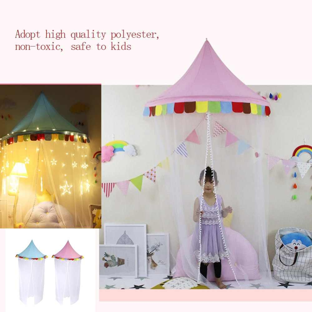 Kids Teepee Tents Children Play House Bed Tent Canopy Foldable