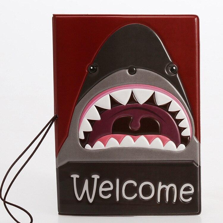 Горячая зарубежных дорожные аксессуары Обложка для паспорта, багажные аксессуары паспорт карты-акулы