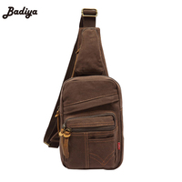 High Quality Multi Function Casual Mens Chest Bag Large Capacity Canvas Cross Body Bags Europe Style