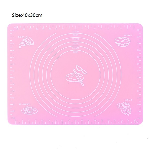 Nonstick Silicone Baking Mat Rolling Fondant Pastry Mat