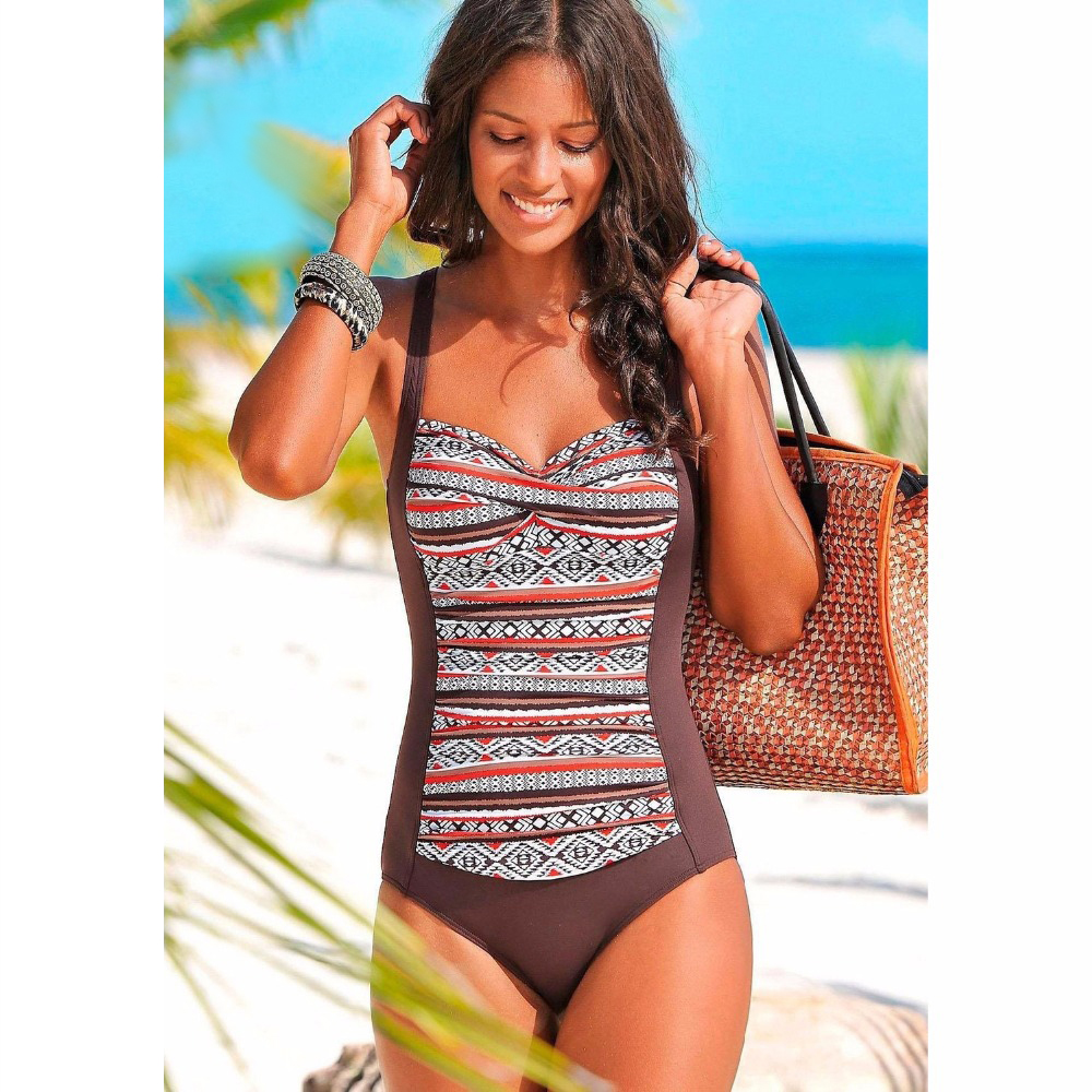 Plus Size One Piece Swimsuit Women Swimwear Solid Monokini Maillot De Bain Femme Bodysuit Female Bathing Suit Black Blue 3