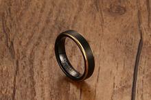 Кольцо мужское из вольфрамовой стали 5 мм
