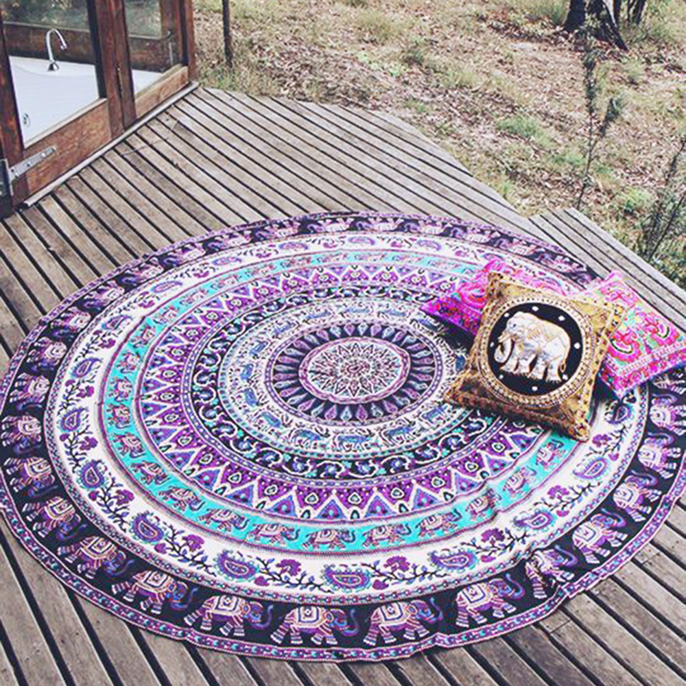Top Durable Beach Chiffon Cover Up Round Beach Pool Home Shower Blanket Table Scarf