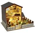 Handmade Doll House Furniture Miniatura Diy Doll Houses Miniature Dollhouse Wooden Toys For Children Birthday Gift Craft TB4