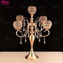 New Wedding Crystal Candlestick Arrangement Five Road Bringing Projects Scene Table