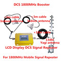 LCD Conjunto Completo 4G LTE DCS 1800 Mhz booster W/Cable + 2 Antenas de interior, GSM DCS 1800 repetidor amplificador de señal de refuerzo repetidor kits