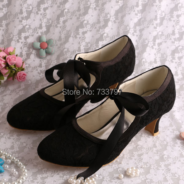 400836fb31a Wedopus Mary Jane Lace up White Wedding Shoes Bride Low Heels High  Quality-in Women s Pumps from Shoes on Aliexpress.com