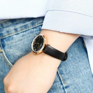 Image 5 - IBSO Neue Marke Frauen Uhren 2020 Grün Echtes Lederband Reloj Mujer Luxus Quarz Damen Uhr Frauen Montre Femme
