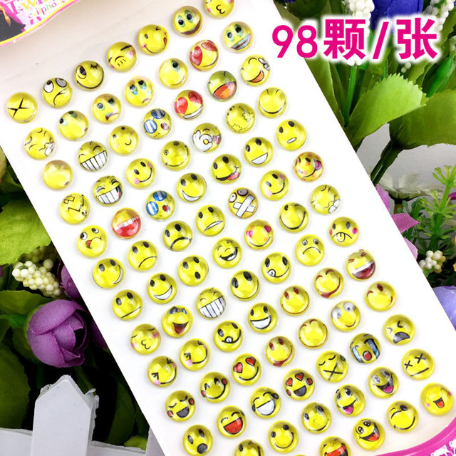84pcs/lot Children's cartoon resin rhinestone stickers kindergarten reward gem stickers diy  acrylic eyebrow paste 3