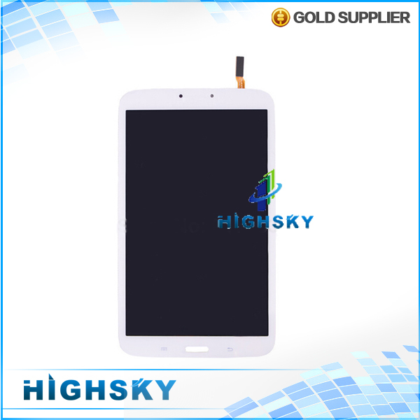 1 piece free hongkong post shipping tested white fit for Samsung Galaxy Tab 3 8.0 T310 lcd screen with touch digitizer display