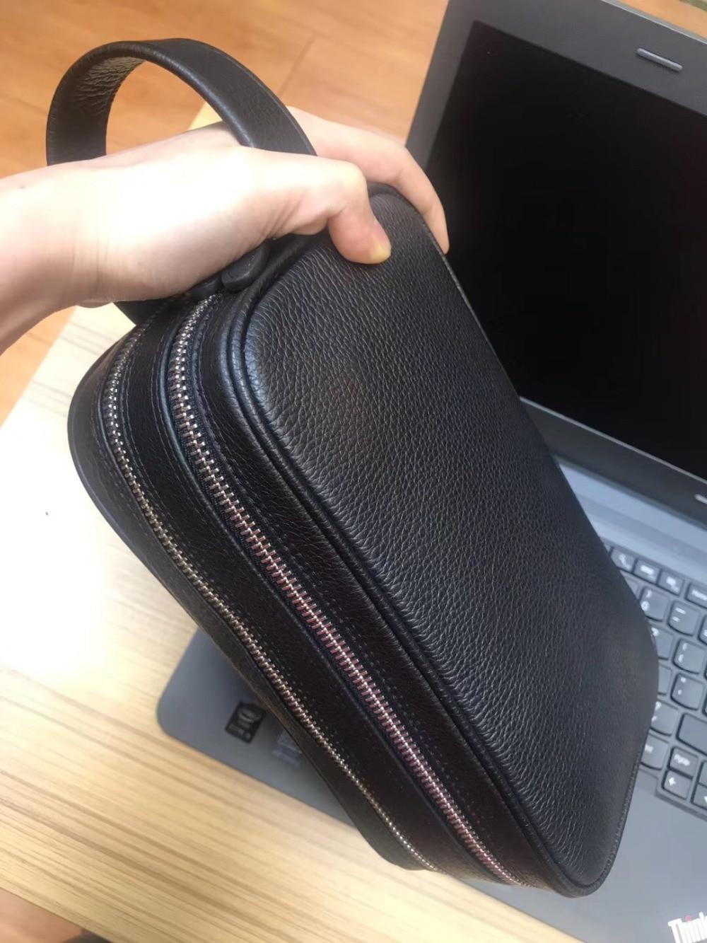 Portfolio 2 Männer Zipper Taschen Tasche Handtasche Zwei Große Echtem Marke Yinte C8013 Business Männlichen Bag Luxus Kupplung Black Leder Clutch Casual Aus qUxaWAf
