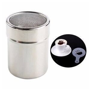 Image 4 - Aço inoxidável quente shaker chocolate farinha de cacau gelo açúcar em pó peneira de café tampa shaker cozinhar ferramentas de café acessórios