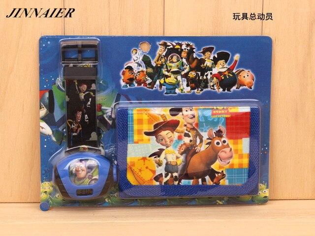 10sets/lot Wholesales Hot Sales Fashion 3D Cartoon Toy Story LED Digital Project