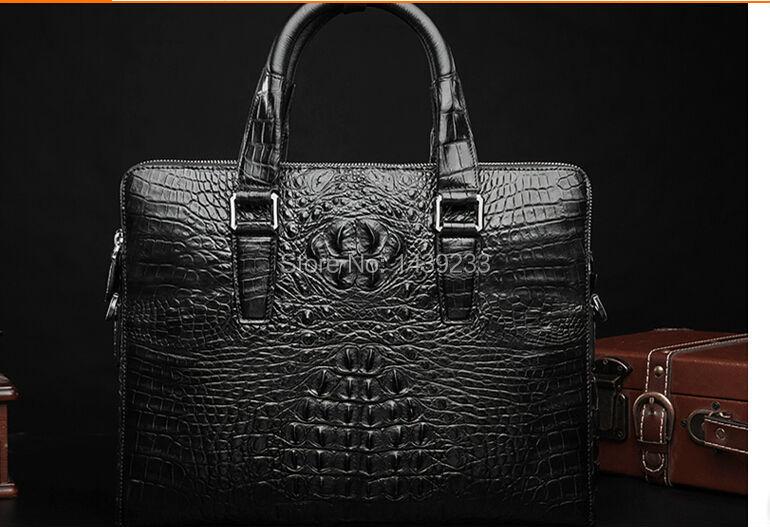 100% Genuine Alligator Skin Briefcase Men Laptop Bag Luxury Men Crocodile Leather Business Bag