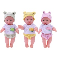 30cm Newborn Reborn Doll Baby Simulation Soft Vinyl Dolls Children Kindergarten Lifelike Toys for Girls Birthday Gift