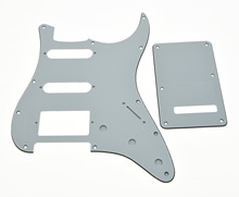 KAISH ST Pickguard,Back Plate and Screws HSS White 3 Ply