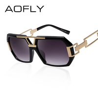AOFLY Square Women Sunglasses Women Brand Designer Fashion Sun Glasses Vintage Glasses Hollow Legs Oculos De