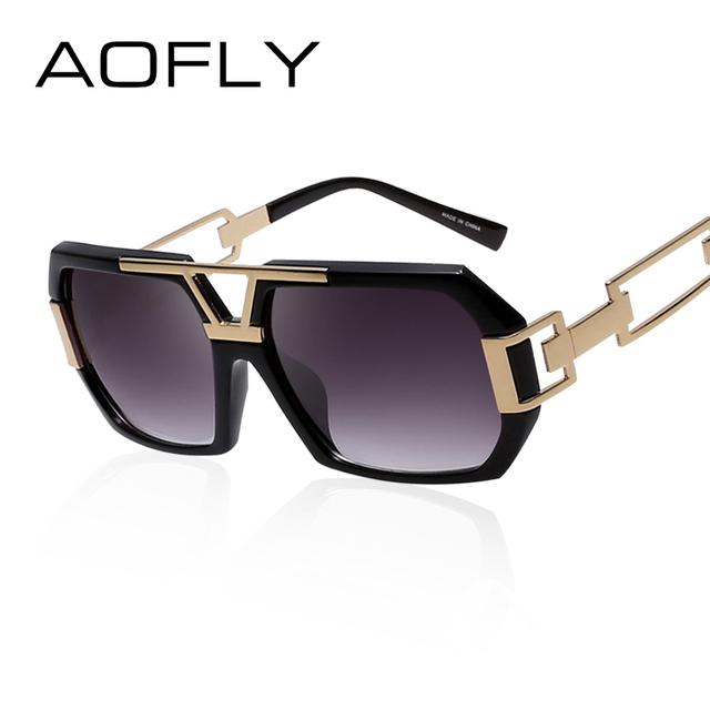 Aofly mulheres quadrados óculos de sol mulheres marca de designer de moda óculos de sol vidros do vintage oco pernas uv400 oculos de sol feminino