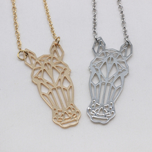 2018 New Origami Charm Horse Necklace Women Copper Jewelry Accept Drop Shipping YP6429