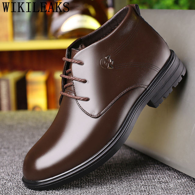 Zapatos De Invierno Botas Vestir Para Hombre Zapatos