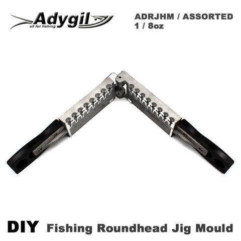 roundhead adygil diy pesca jig molde adrjhmassorted