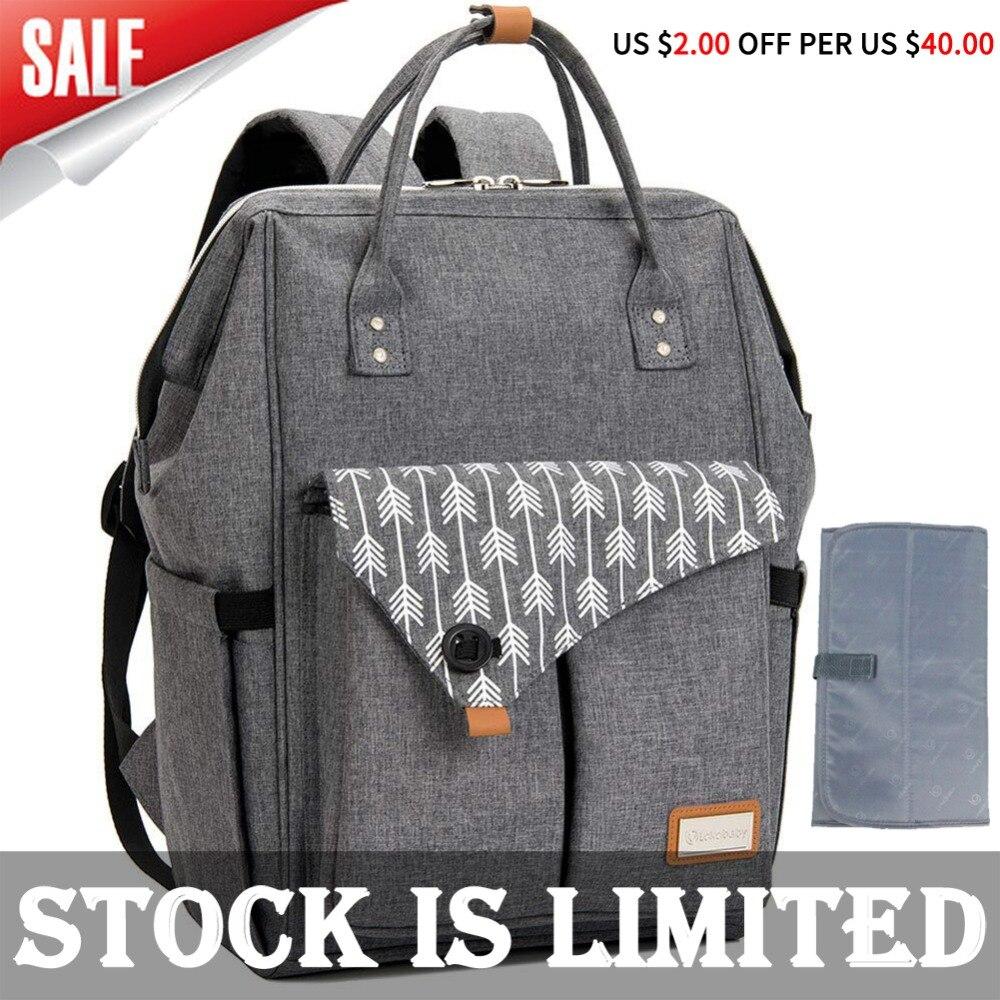 Lekebaby sac à Couches bébé sac à langer bay de maternité sac organisateur sac à bandoulière voyage fourre-tout Grande capacité maman sacs à main pour les mamans