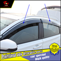 4Pcs/set car styling windows Protection Rain Shield Visor Cover For Honda HRV XRV Vezel 2014-2016 Acrylic Window Rain Visor trim
