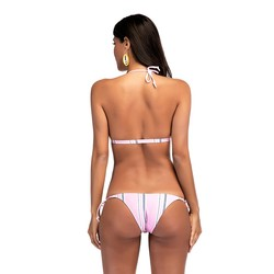 Bikini 2019 Mujer Bikini Push Up strój kąpielowy kobiety wyściełana strój kąpielowy dwuczęściowy oddzielne Sexy Biquini SwimmingSuit dla kobiet różowy D # 4