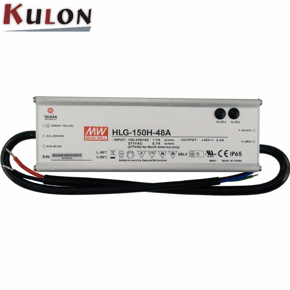 цена на Original MEAN WELL HLG-150H-48A 48V Power Supply Single output 150W 48V 3.2A led supply power 48V