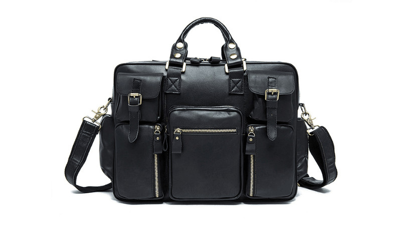 Classic genuine leather cow skin soft travel duffle for men large capacity holdall цены