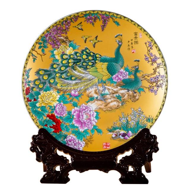 Ceramic Ornament Beauty Figurines Home Furnishing Crafts Chinese Style Porcelain Plates Handicraft Wedding Desktop Decor G $ 5