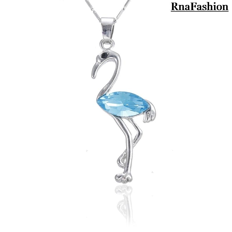 RNAFASHION Trendy Fashion Animal Pendant Necklace Austria Crystal Silver Plated For Women Jewellery 2017