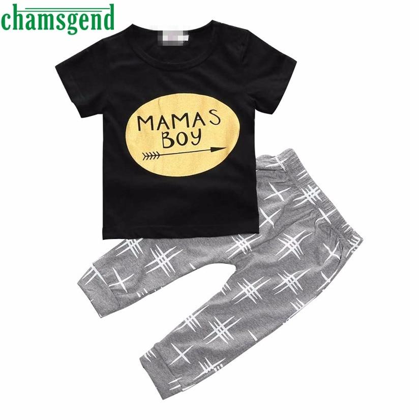 CHAMSGEND Best seller nave di goccia Estate Dei Capretti Graziosi bambini vestiti Bambini Bambino Vestiti Del Ragazzo T-Shirt Top + Pants Outfit Set Feb7 S30