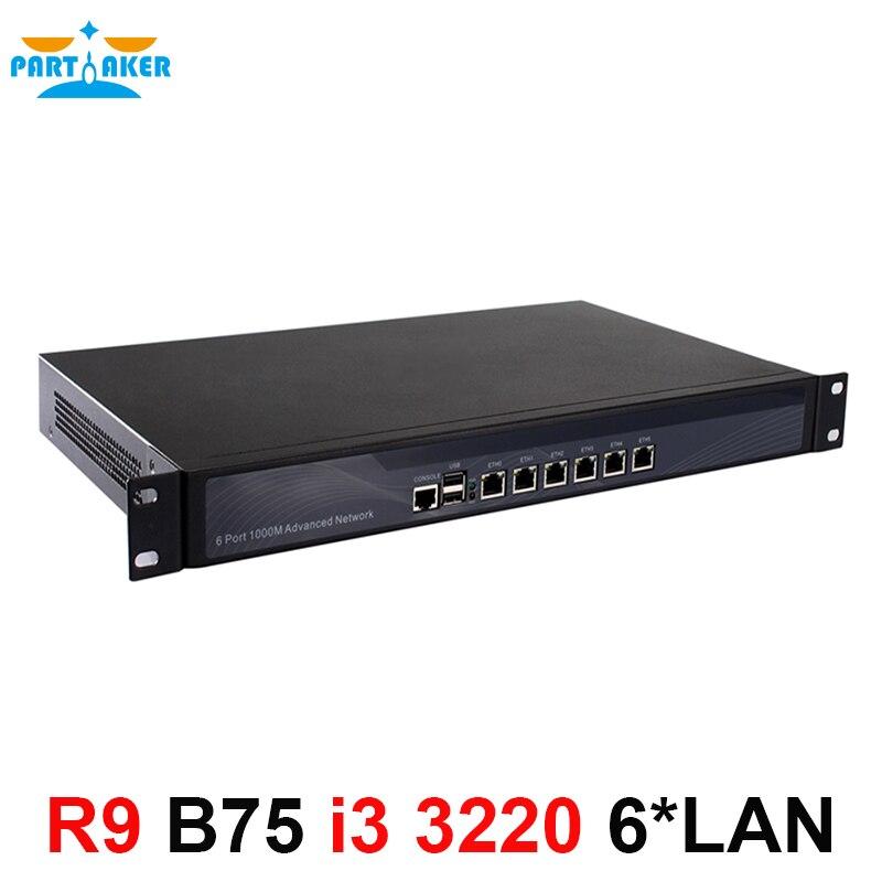 Partaker R9 6 Intel PCI-E 1000M 82583V Gigabit LAN B75 1U Firewall Appliance i3 3220 Processor 4G RAM 32G SSD Pfsense FirewallPartaker R9 6 Intel PCI-E 1000M 82583V Gigabit LAN B75 1U Firewall Appliance i3 3220 Processor 4G RAM 32G SSD Pfsense Firewall